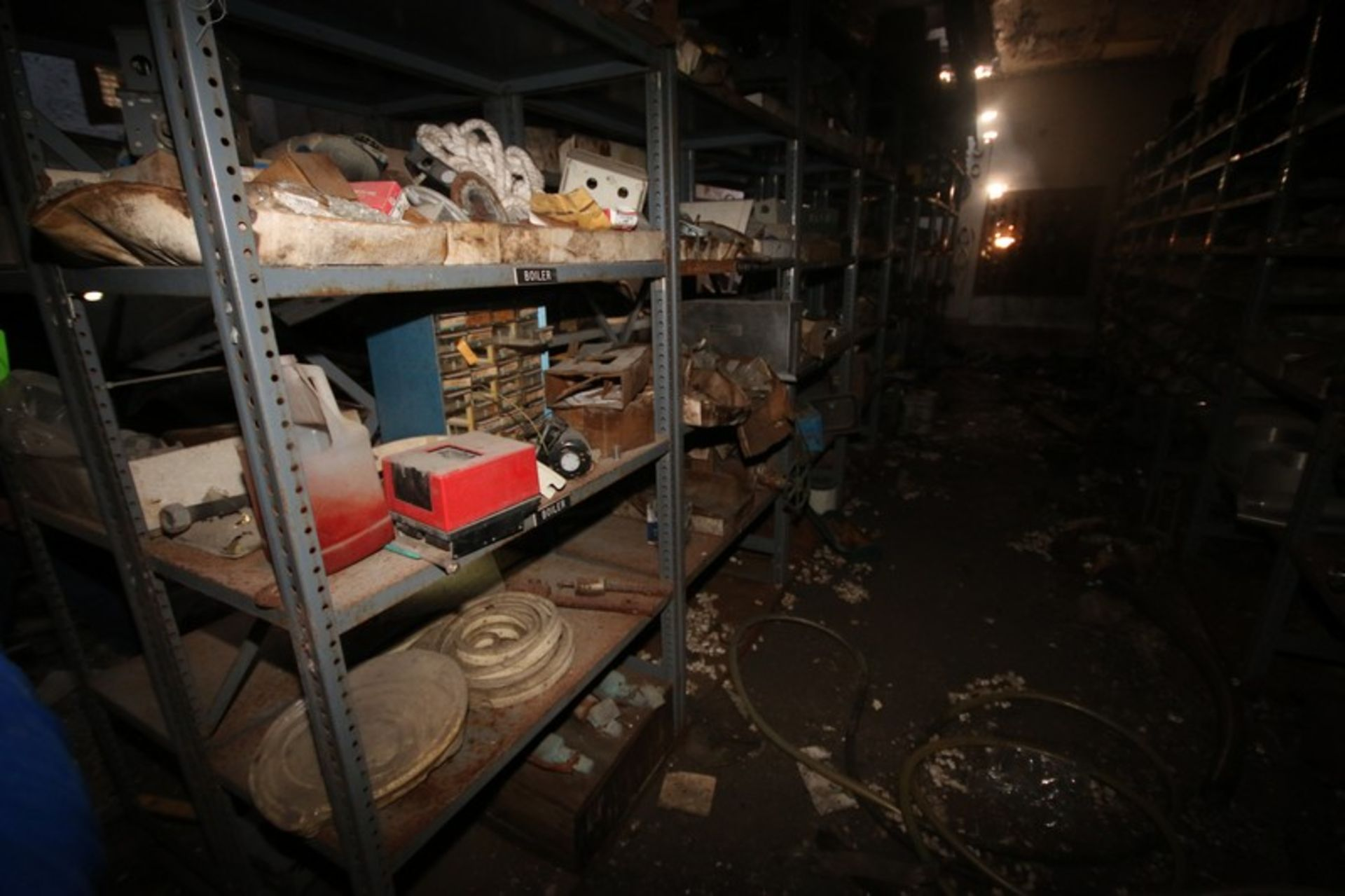 Contents of Parts Room, Includes Bearings, Stainless Steel Pipe, Motors, Belts, Electrical Wire, - Image 8 of 22