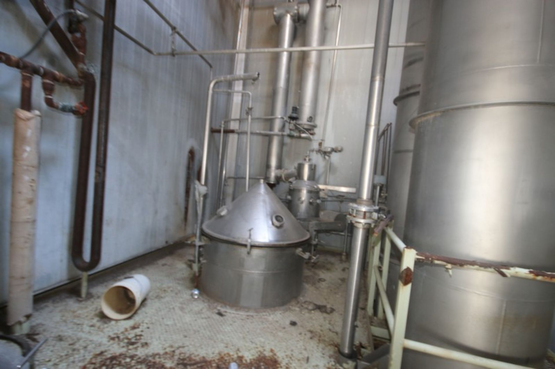 C. E. Rogers 55,000#/ Hr. Falling Film Whey Evaporator, with S/S Components & Associated Valving & - Image 10 of 22