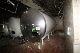 Mueller 6,000 Gal. S/S Horizontal Tank, with Carbon Steel Sheathing, Tank Dims.: Aprox. 8'