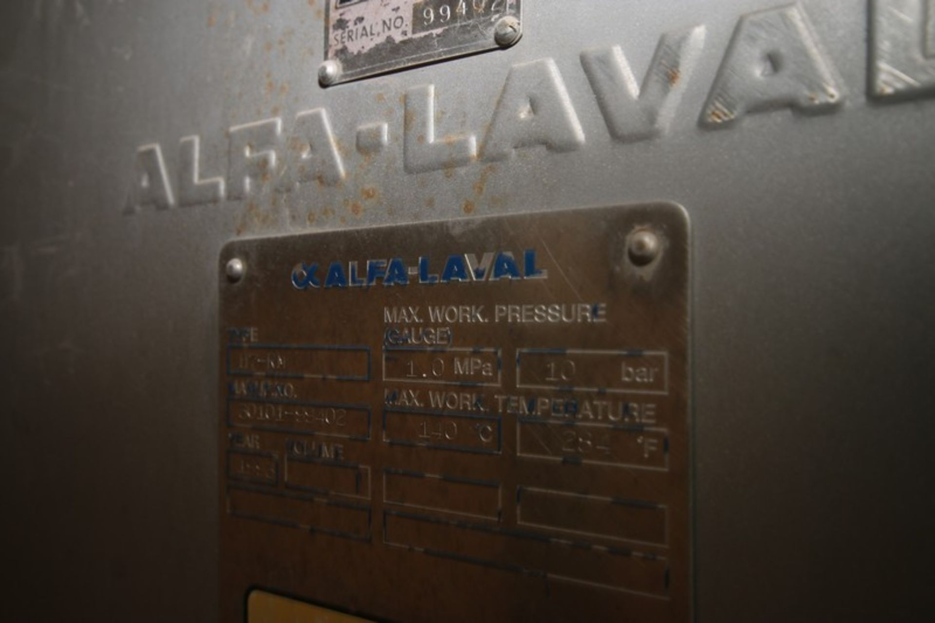 Alfa Laval Plate Heat Exchanger, M/N H7-RM, S/N 30101-99402, Built 1993. Expandable Stainless - Image 3 of 5