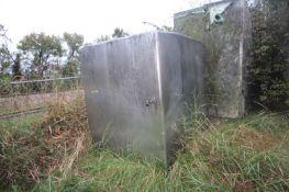 "Chester Jenson 2-Compartment 2,000 Gal. S/S Tank, Tank Dims.: Aprox. 60"" W x 52"" L x 79"" D ("