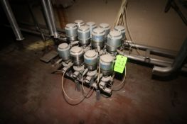 "Cluster of (12) 2"" Clamp Type S/S Air Valves (LOCATED IN Muenster, TX)"