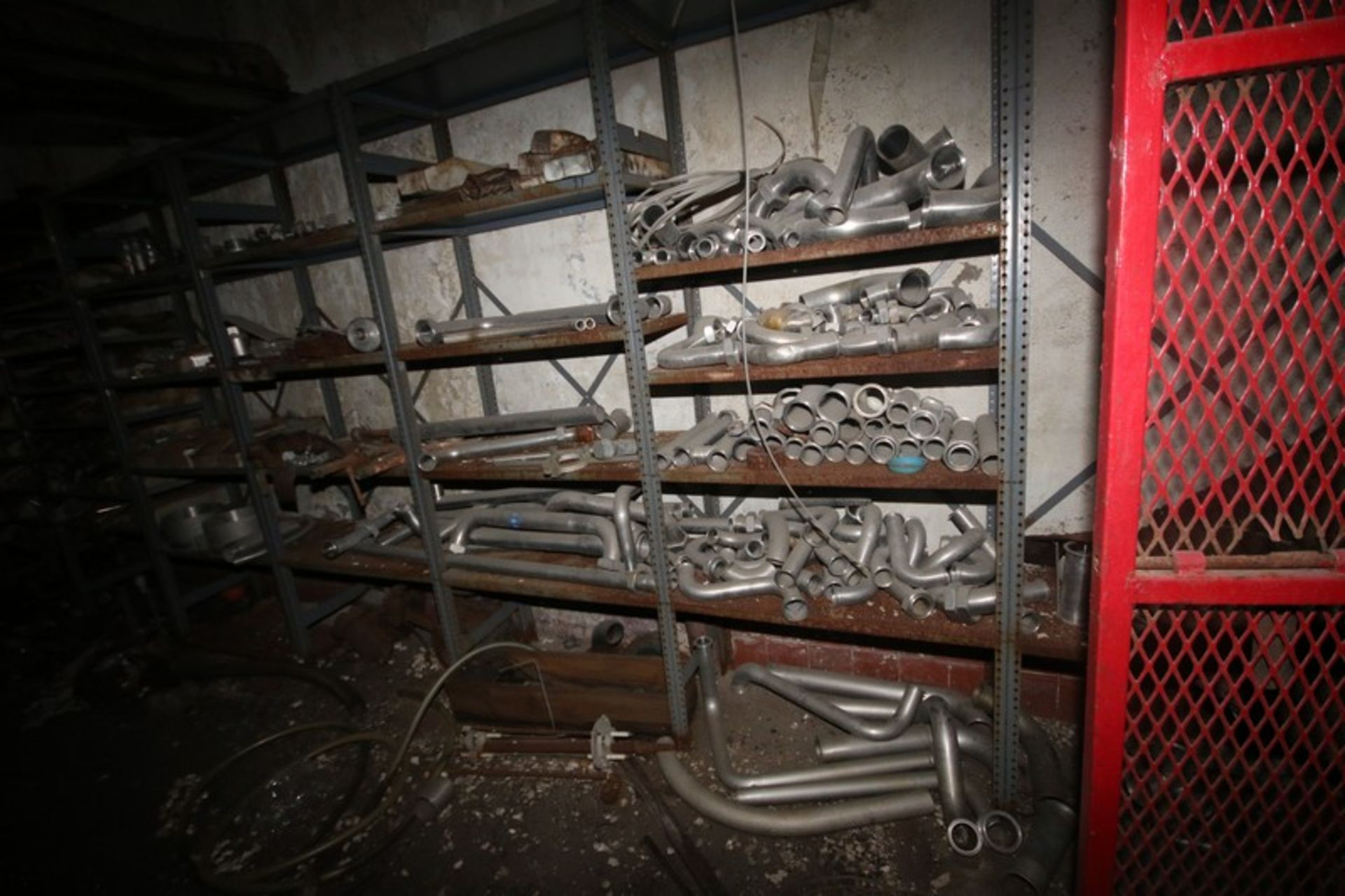 Contents of Parts Room, Includes Bearings, Stainless Steel Pipe, Motors, Belts, Electrical Wire, - Image 7 of 22