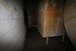 "Aprox. 1,500 Gal. S/S Acid Tank, Tank Dims.: Aprox. 58"" Wide x 72"" Long x 96"" Tall, with Bottom S/"