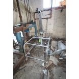 "Butler S/S Cyclong Collector, Aprox. 16"" Dia. x 39"" Tall, S/N 5208-693 Includes S/S Manual Lift,"