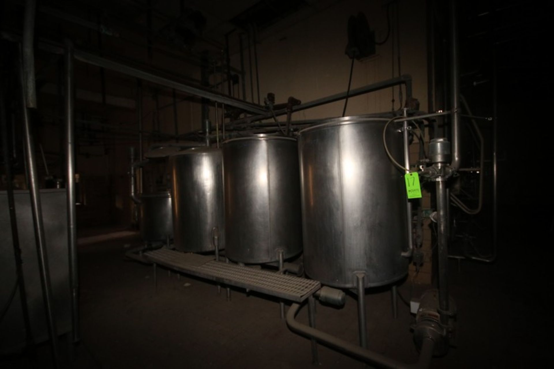 Tri-Clover 4-Tank CIP System, with (2) Centrigual Pumps. Includes S/S Balance Tank, Control Panel, & - Image 2 of 11