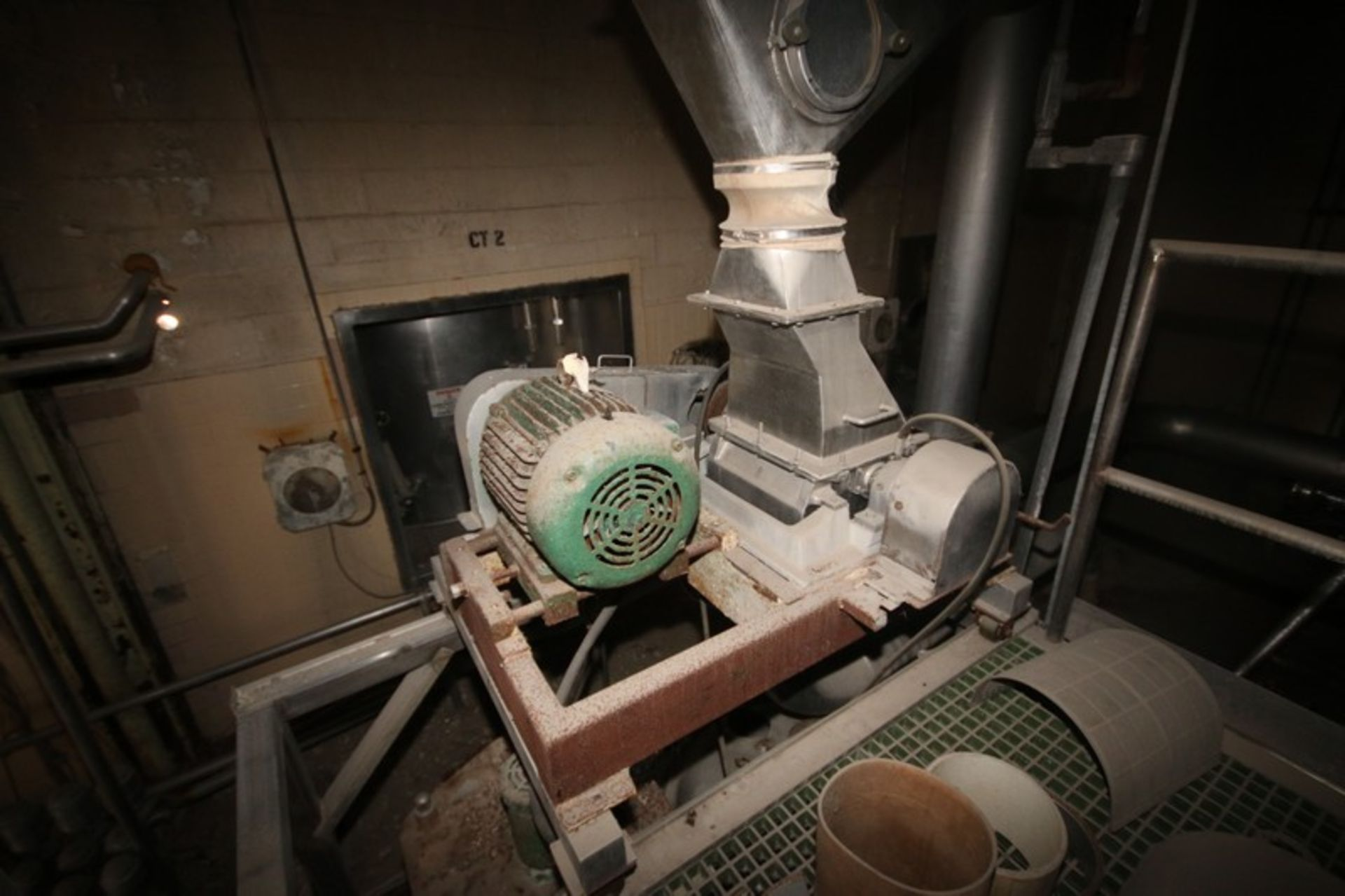 """Fitzpatrick Fitzmill, M/N DASO12, with Aprox. 36"""" Pedestal Sifter & Rotary Airlock Valve (LOCATED IN"""