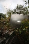 "Aprox. 2,300 Gal. S/S Processor, Tank Dims.: Aprox. 8' Diameter x 76"" Straight Side. Dish Top,"