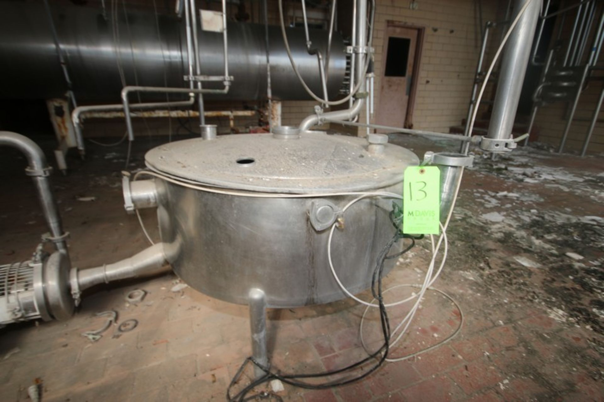"""Aprox. 60 Gal. S/S Tank, Tank Dims.: Aprox. 42"""" Dia. x 15"""" H Straight Side (LOCATED IN Muenster, TX) - Image 2 of 7"""
