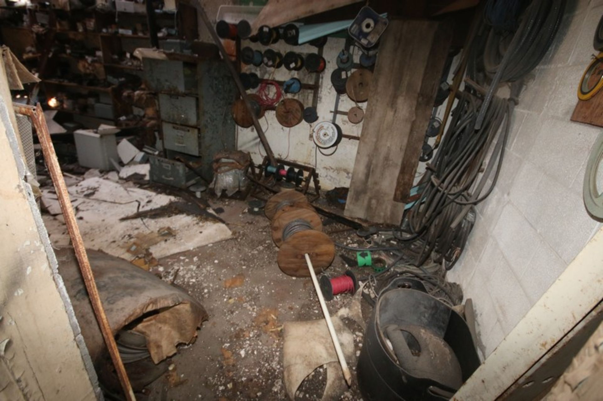 Contents of Parts Room, Includes Bearings, Stainless Steel Pipe, Motors, Belts, Electrical Wire, - Image 20 of 22