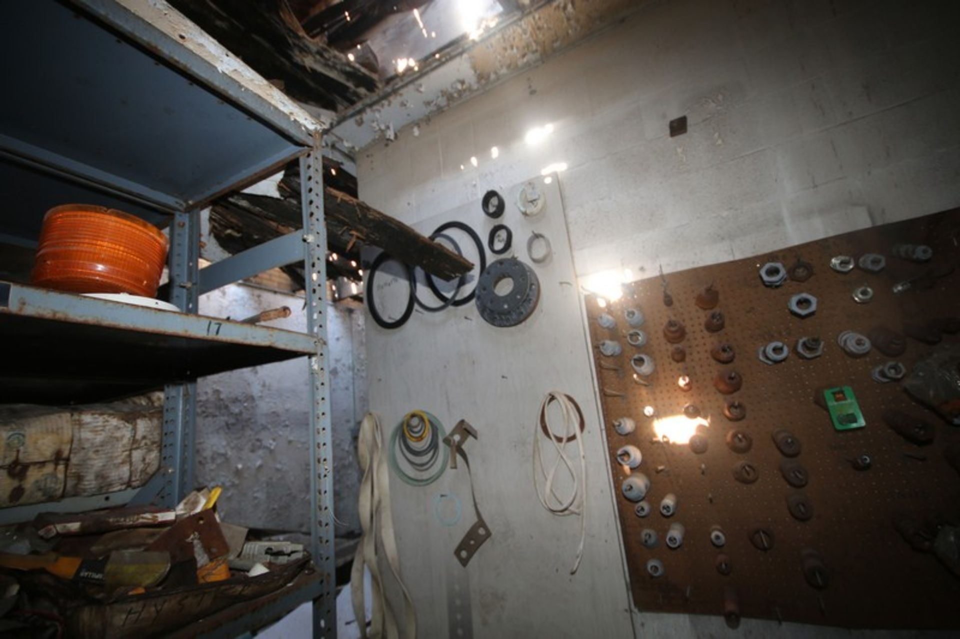 Contents of Parts Room, Includes Bearings, Stainless Steel Pipe, Motors, Belts, Electrical Wire, - Image 14 of 22