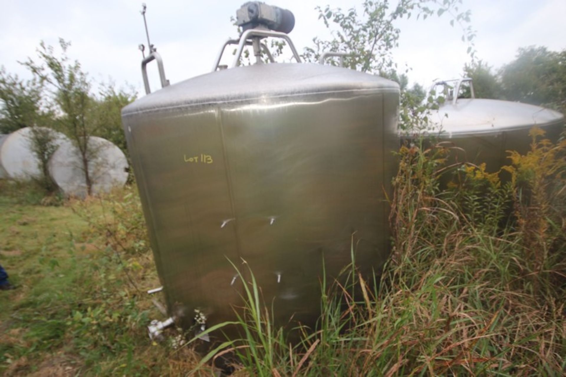"""Aprox. 2,300 Gal. S/S Processor, Tank Dims.: Aprox. 8' Diameter x 76"""" Straight Side, Dish Top, - Image 2 of 6"""