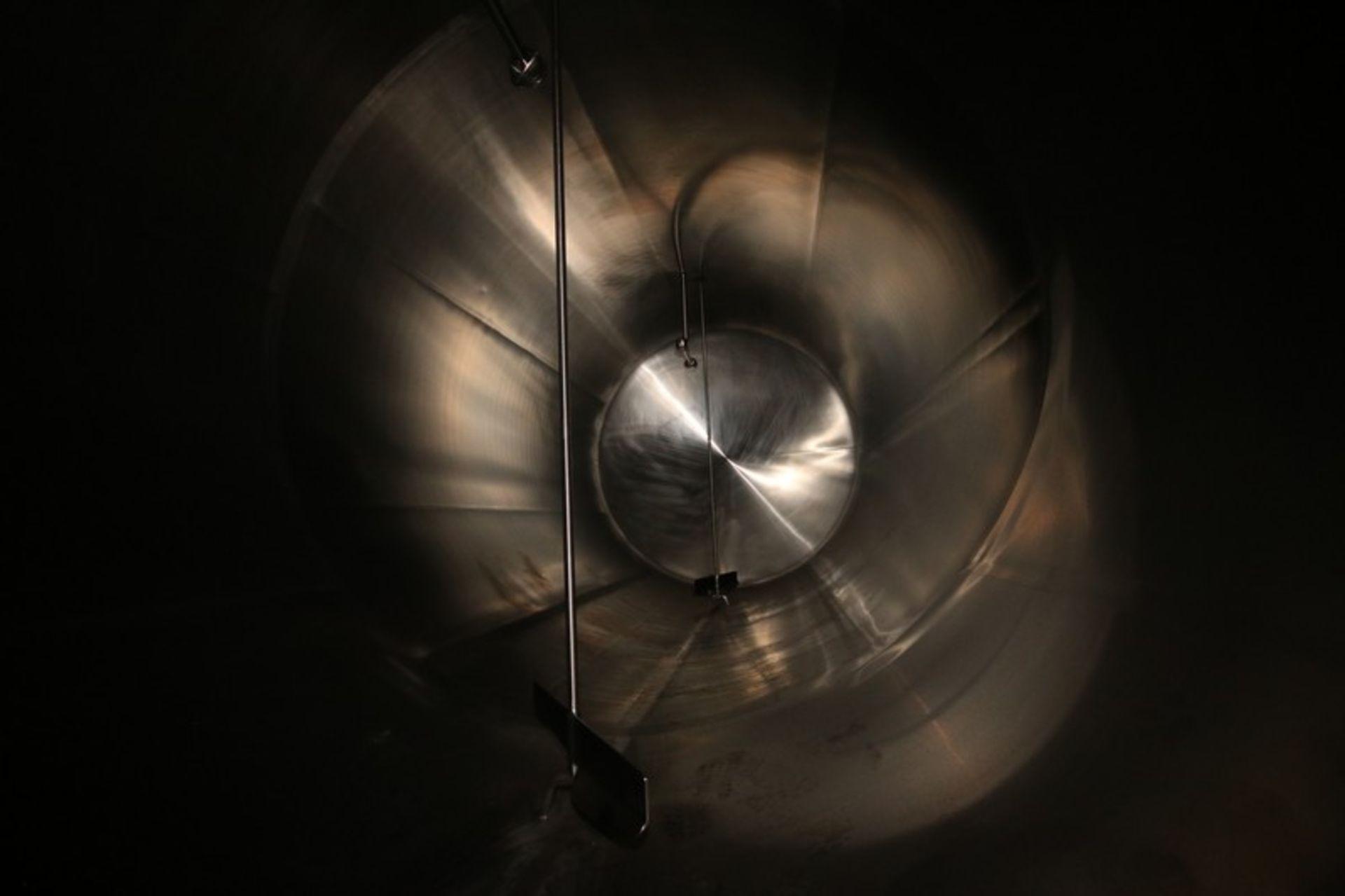 "Walker Aprox. 9,500 Gal. S/S Horizontal Tank, S/N 1520, Tank Dims.: Aprox. 108"" Diameter x 20' Long, - Image 5 of 7"