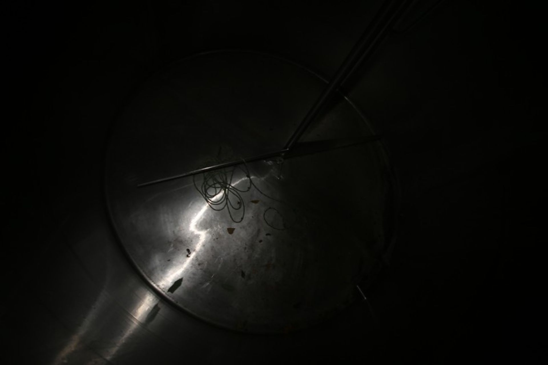 """Aprox. 2,300 Gal. S/S Processor, Tank Dims.: Aprox. 8' Diameter x 76"""" Straight Side, Dish Top, - Image 6 of 6"""