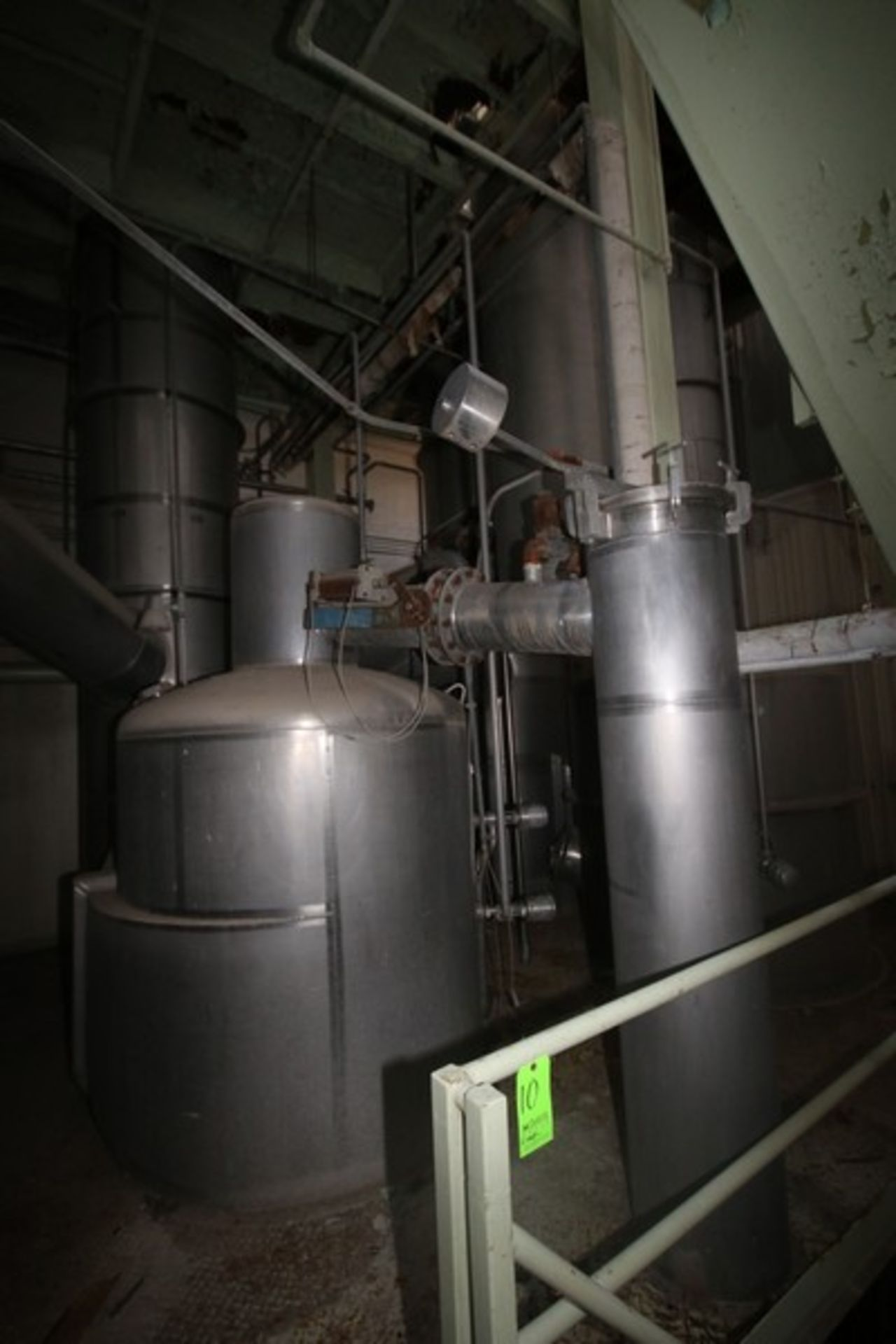 C. E. Rogers 55,000#/ Hr. Falling Film Whey Evaporator, with S/S Components & Associated Valving &