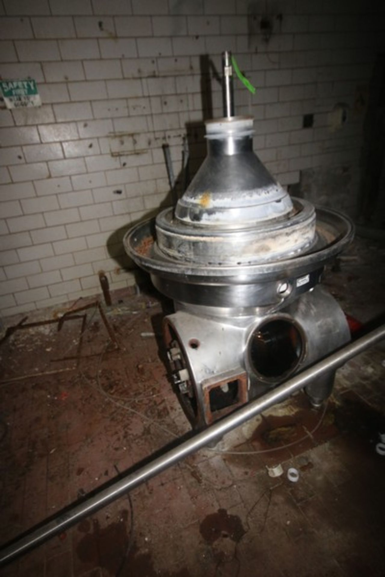 Westfalia Separator, with S/S Bowl, Bowl S/N 1644416 (NOTE: Parts Machine--See Photographs) (LOCATED - Image 2 of 8