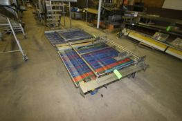 "(2) Sections of Portable Conveyor, Overall Dims.: Aprox. 63"" L x 63"" W x 20"" H, Mounted on"