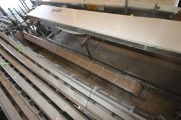 """Straight Section of Flighted S/S Conveyor, with Flights, Aprox. 12"""" W Flights, Overall Length Aprox."""