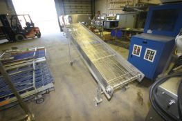 "S/S Mesh Incline Conveyor, with Aprox. 24"" W Mesh Conveyor, Overall Length: Aprox. 8' L, Mounted"
