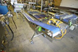 "Straight Section of S/S Incline Conveyor, Overall Length: Aprox. 10' L, with Aprox. 10"" W Belt, with"