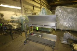 """Brady S/S Depositor, CAT #: 86130, with Aprox. 47"""" L Roll, with S/S Infeed Chute, Mounted on S/S"""
