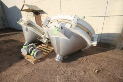 Metalfab Inc. S/S Feeder Funnel, S/N 199028, with Invict-Vibrator, with 2.4 hp Motor, 230/460 Volts,