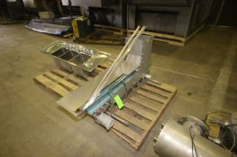 "Section of Feeder Conveyor, Aprox. 6-1/2"" W Belt, Mounted on S/S Frame (LOCATED IN MEDFORD, WI) ("