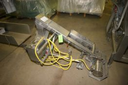 """S/S Incline Auger, with S/S Clad Motor, Overall Length: Aprox. 53"""" L, Mounted on Portable Frame ("""