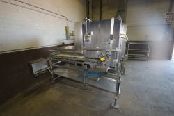 S/S Waterfall Mushroom Applicator, S/N 300-91-3, Mounted on S/S Frame (LOCATED IN MEDFORD, WI) (