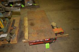 "Lee 3,000 lb. Cap. Scissor Lift, M/N XL36-30, S/N 123792, with Aprox. 48-1/2"" L x 24"" W Platform,"