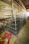 """6-Shelf S/S Portable Bakery Racks, Overall Dims.: Aprox. 50"""" L x 40"""" W x 74"""" H (LOCATED IN"""