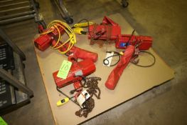 Coffing Electric Hoists, M/N EMC-500, 115 Volts, 1 Phase, with Hoist & Chain (LOCATED IN MEDFORD,