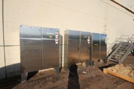 (3) S/S Double Door Control Panels, Mounted on S/S Legs (LOCATED IN MEDFORD, WI) (Rigging, Loading &
