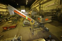 "S/S Incline Auger Conveyor, with Aprox. 102"" L Auger, with Marathon 3/4 hp Motor, Mounted on S/S"