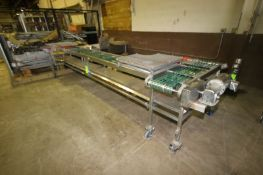 DT 90 Degree Turn Conveyor, M/N PCC-0200, S/N 010-4000, Aprox. 14' L, with S/S Clad Motor (LOCATED
