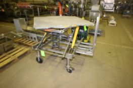 """300 lb. Capacity Portable Scissor Lift Table, with Aprox. 48"""" L x 44"""" W, Mounted on Portable"""