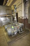 Dual Pump High Pressure Skid, with (2) 100 hp Pumps, with 3570 Baldor RPM Motors, with Related