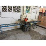 HABERLE Metal saw c/w conveyor