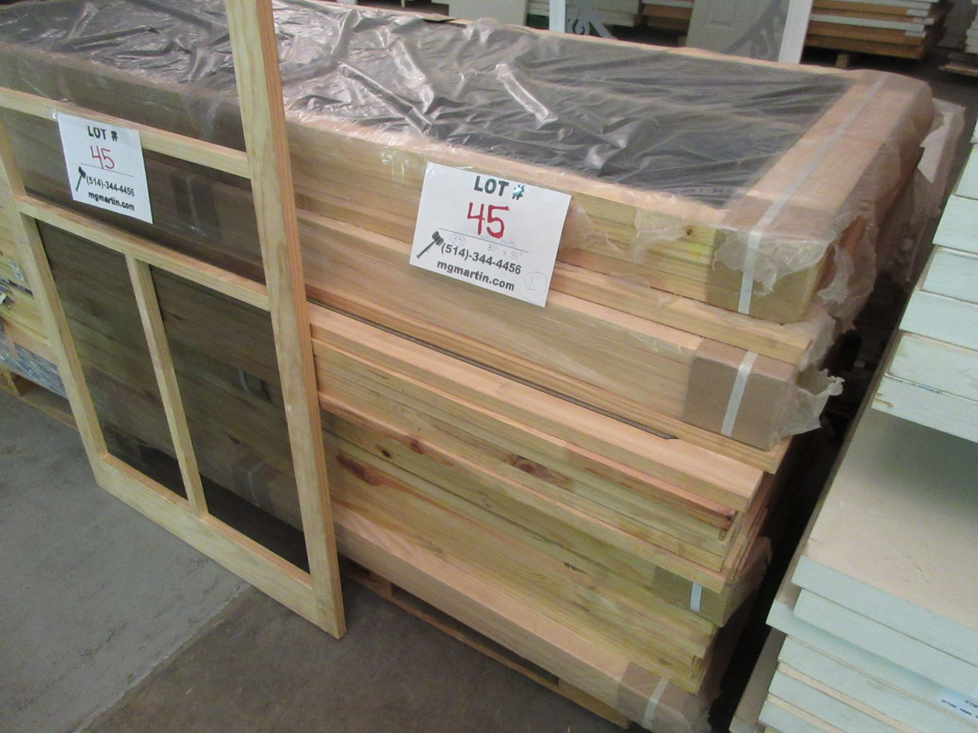 "Lot 45 - Screen doors 32""x 80"" x 1"" (qty 33)"
