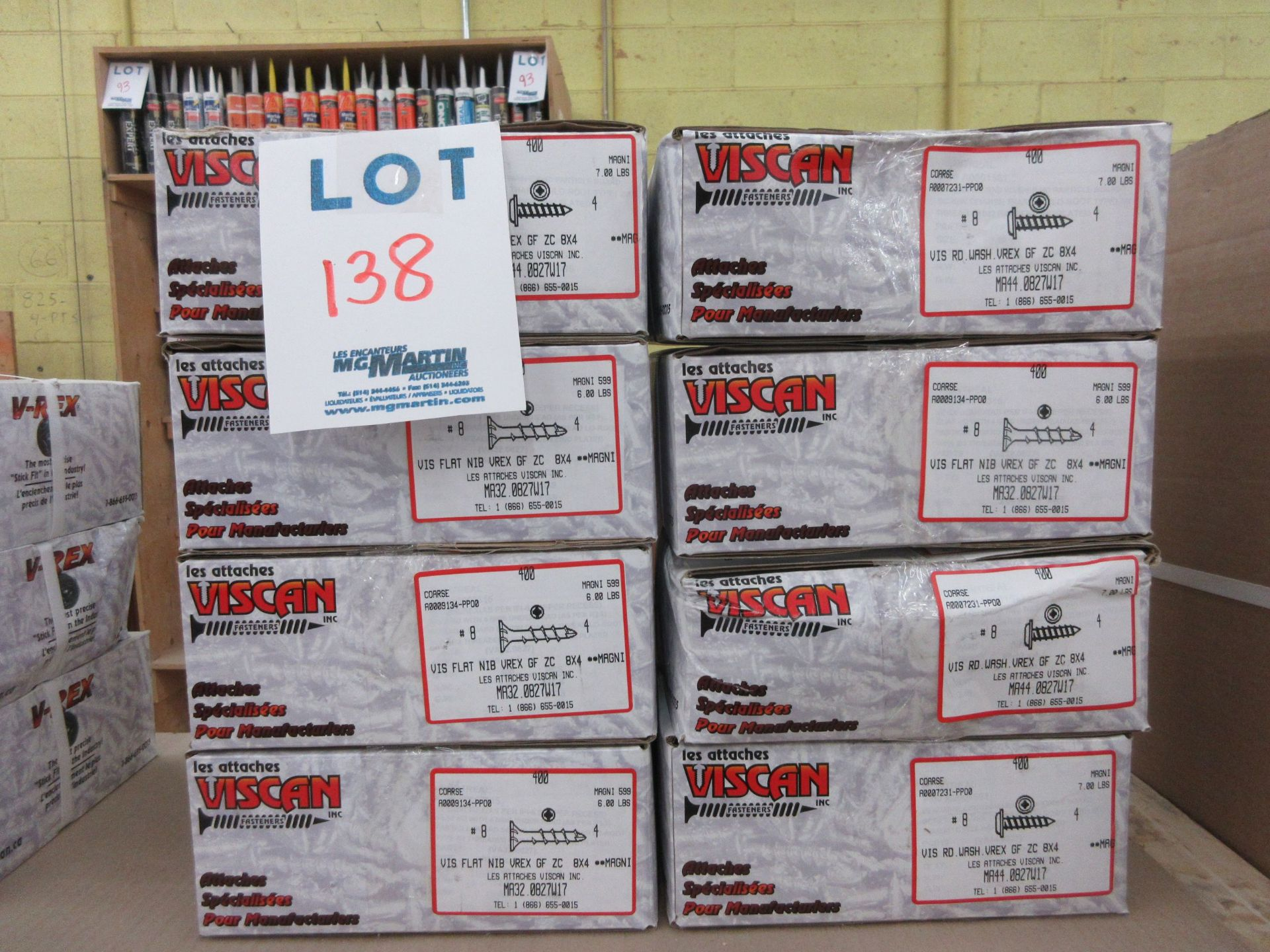 Lot 138 - Assorted boxes of screws (8)