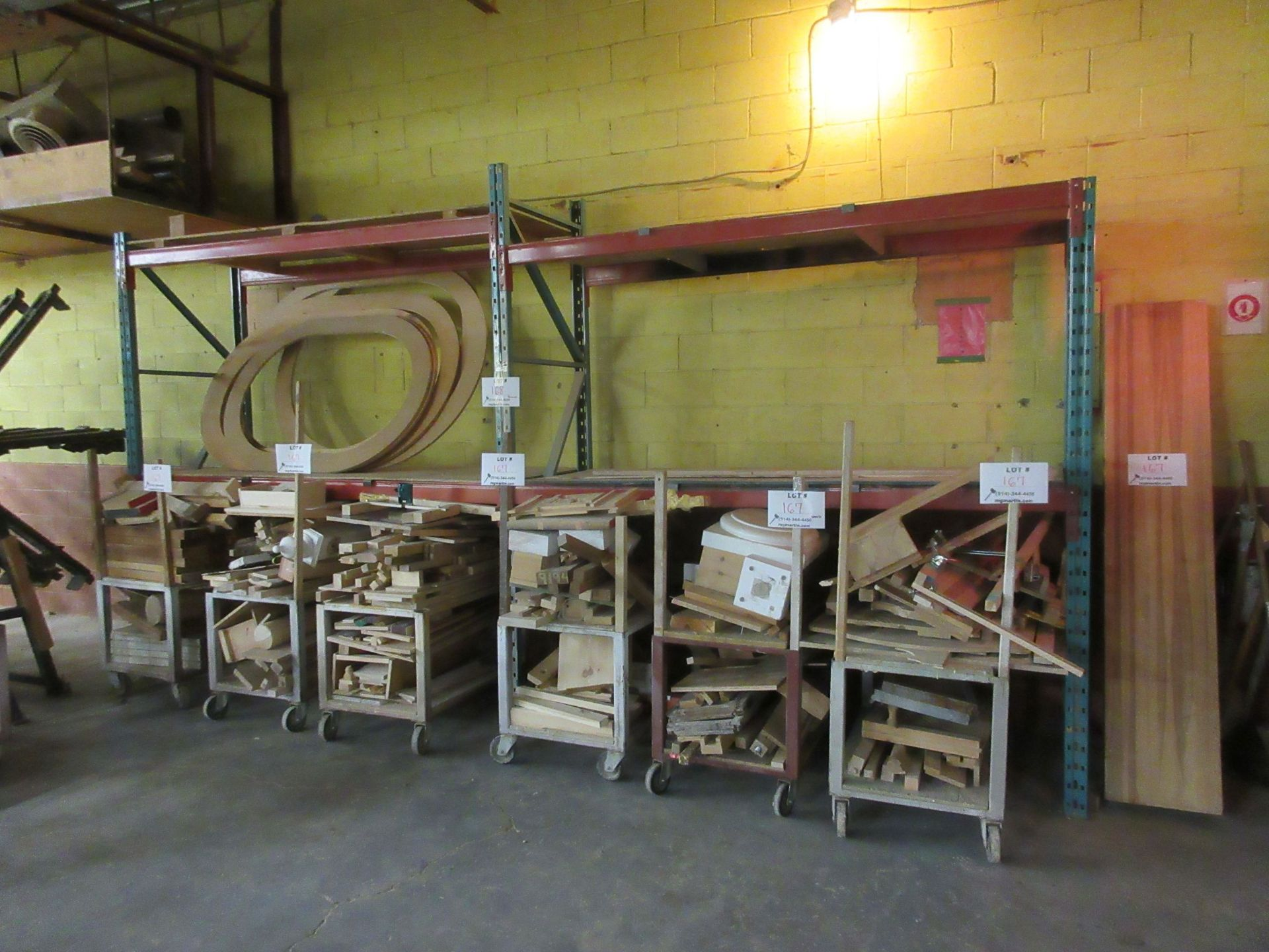 "Lot 168 - Sections of industrial racking 8ft W x 36"" D x 9ft H (2) (SUBJECT TO BANK APPROVAL)"