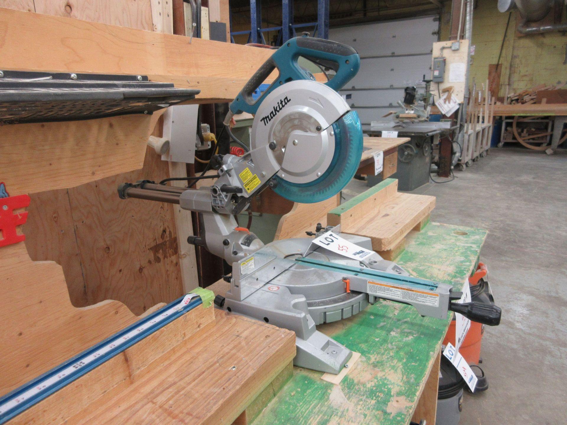 MAKITA miter saw, Mod: LS1018L c/w work table - Image 2 of 5