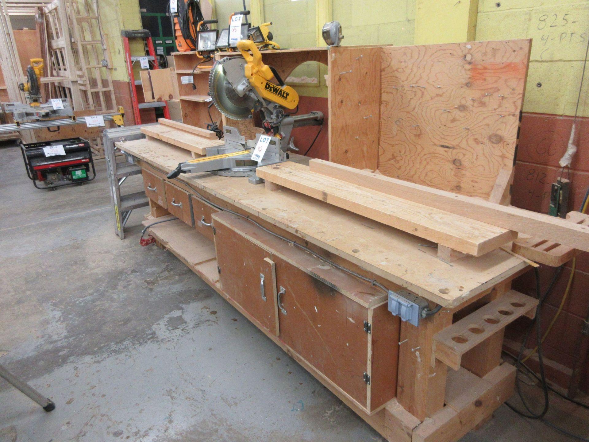 DEWALT miter saw Mod: DWS 780, c/w work cabinet - Image 4 of 5