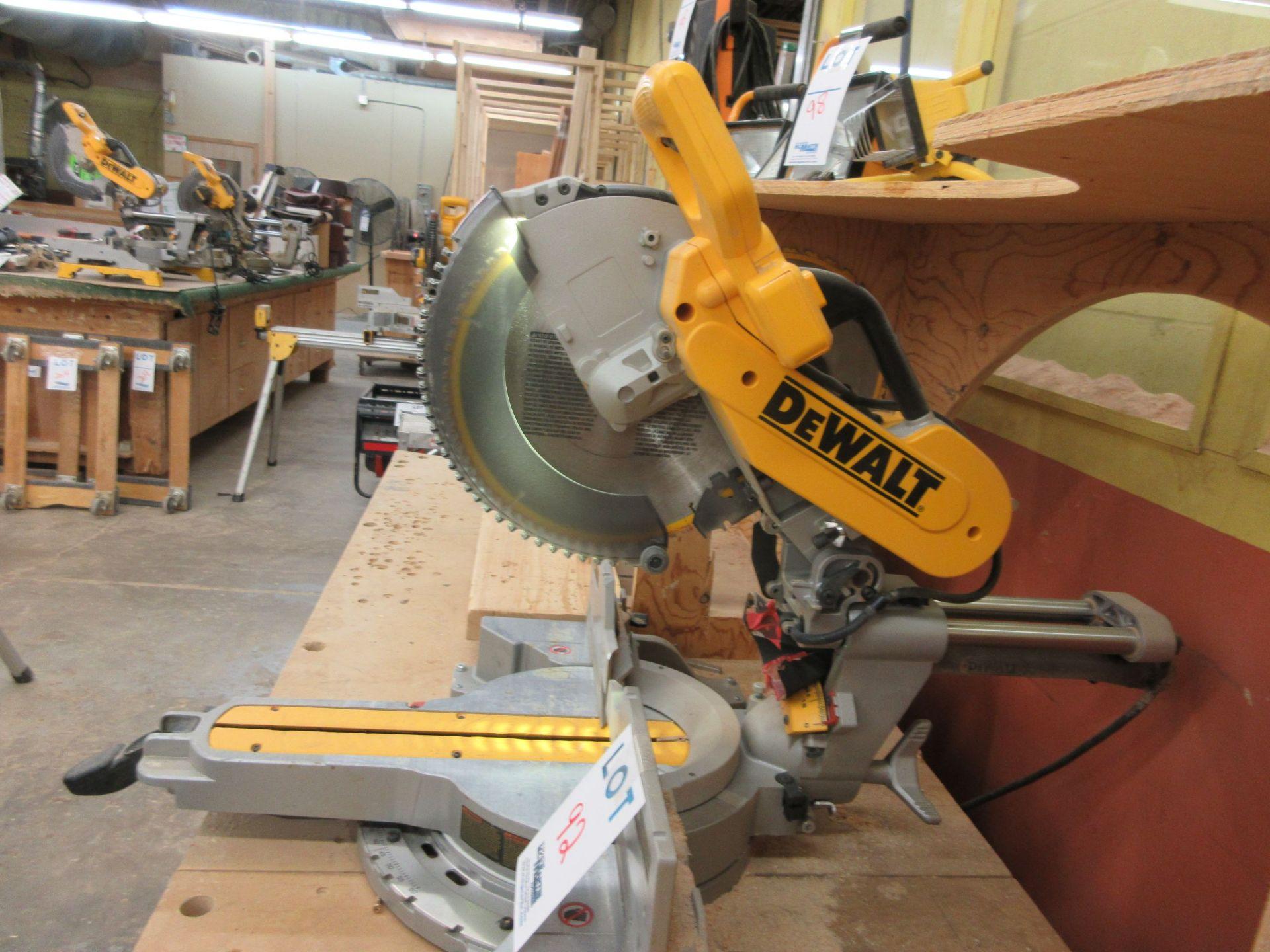 DEWALT miter saw Mod: DWS 780, c/w work cabinet - Image 3 of 5