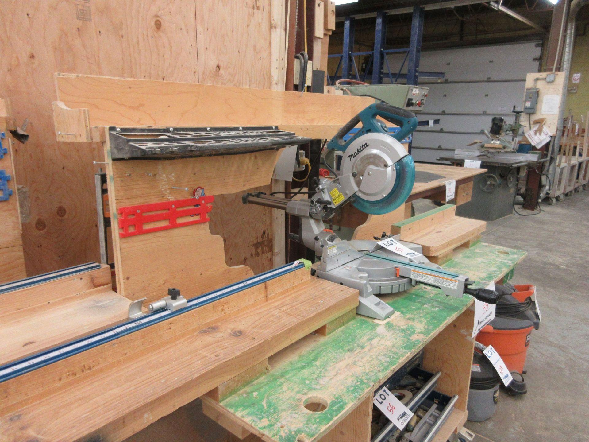 MAKITA miter saw, Mod: LS1018L c/w work table - Image 5 of 5