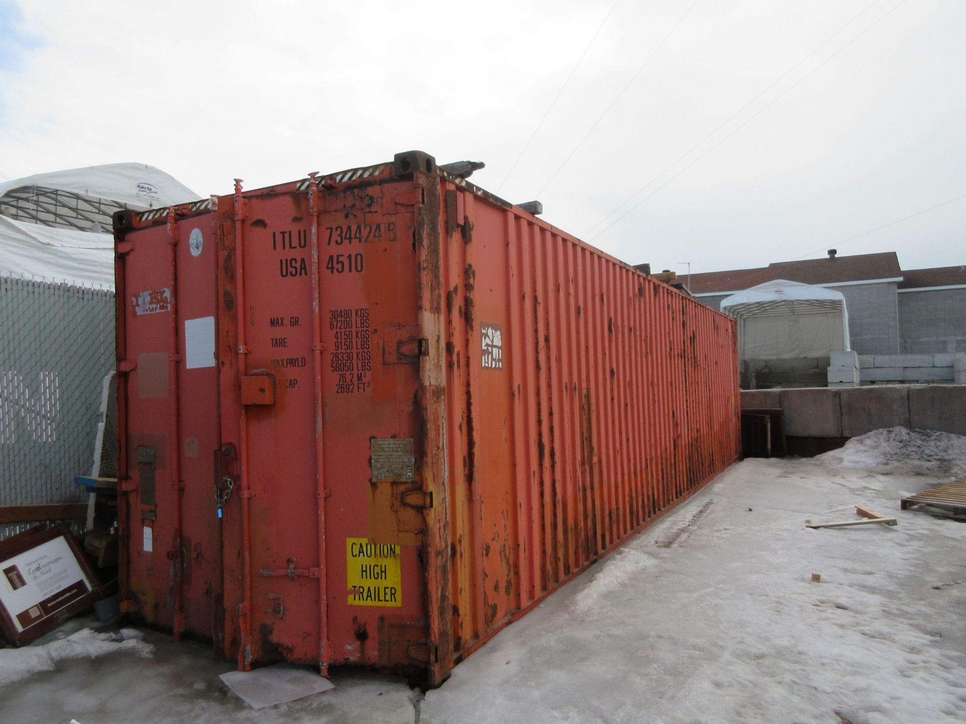 Exterior storage container 40 ft