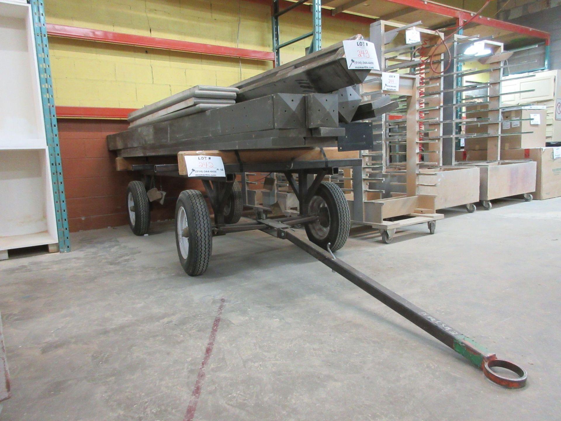 "Lot 242 - Mobile cart c/w handle 50"" x 92"""