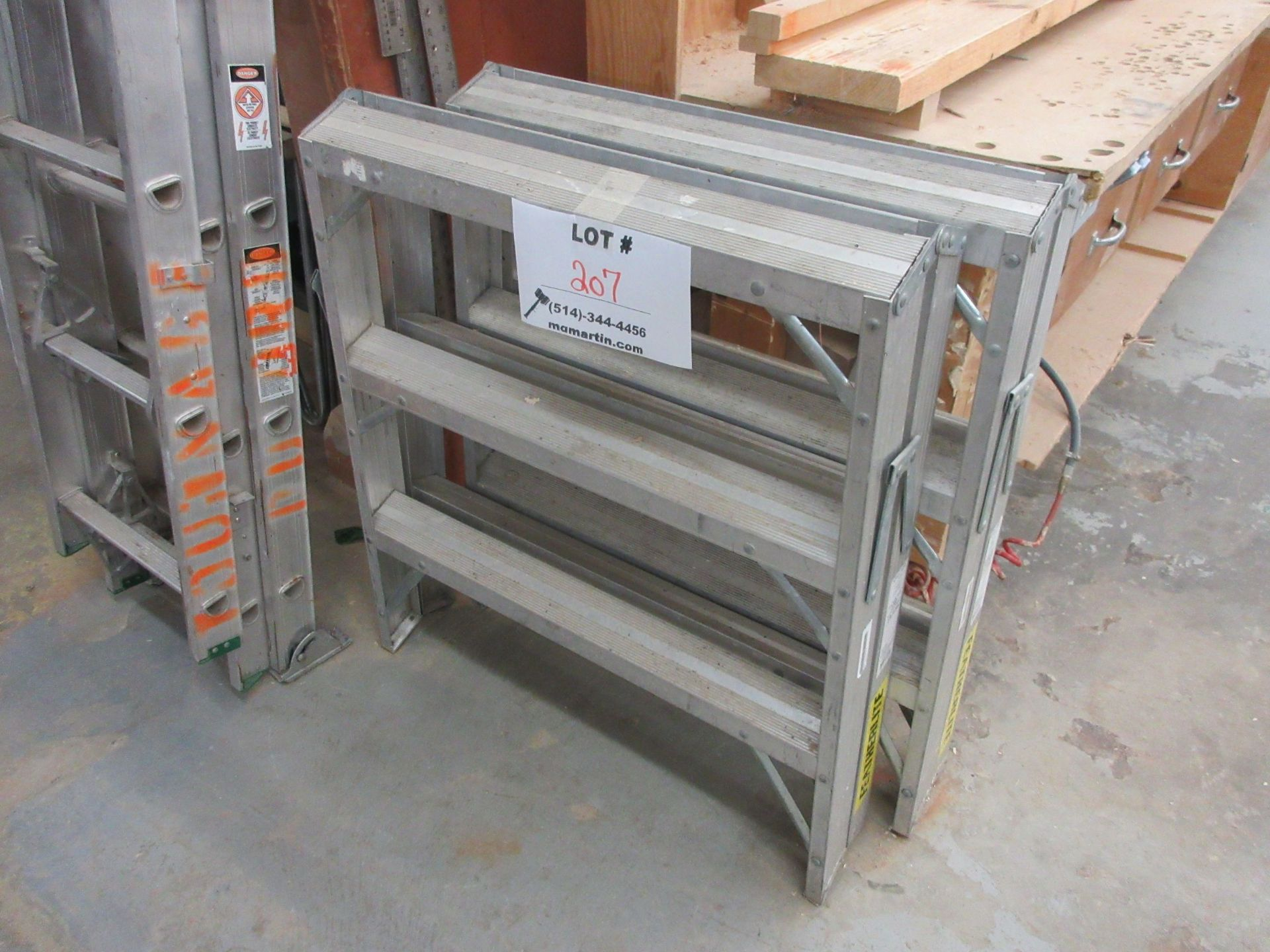 Lot 207 - Heavy dury step ladders (2)