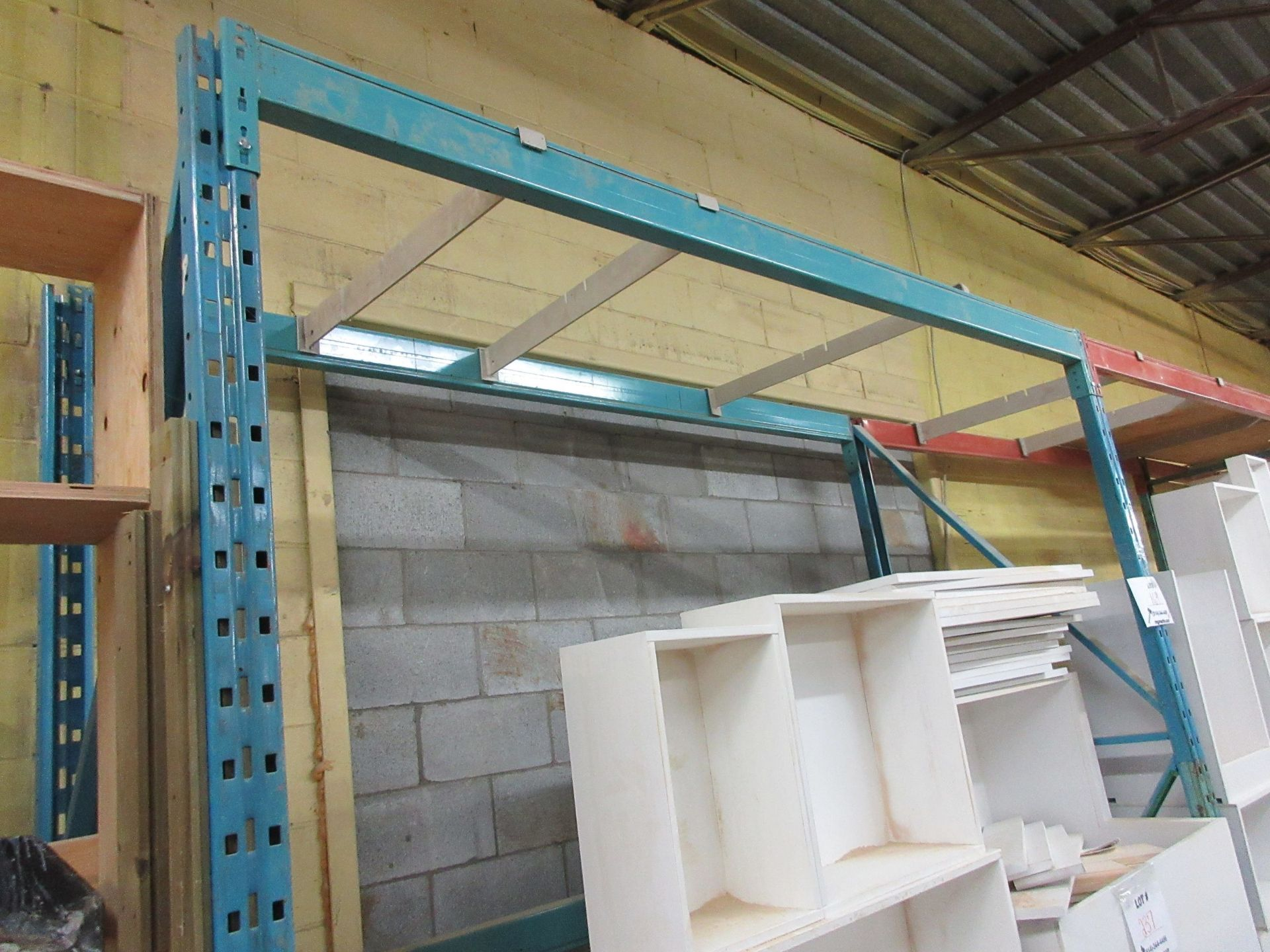 "Lot 169 - Sections of industrial racking 9ft W x 36"" D x 9ft H (6) (SUBJECT TO BANK APPROVAL)"