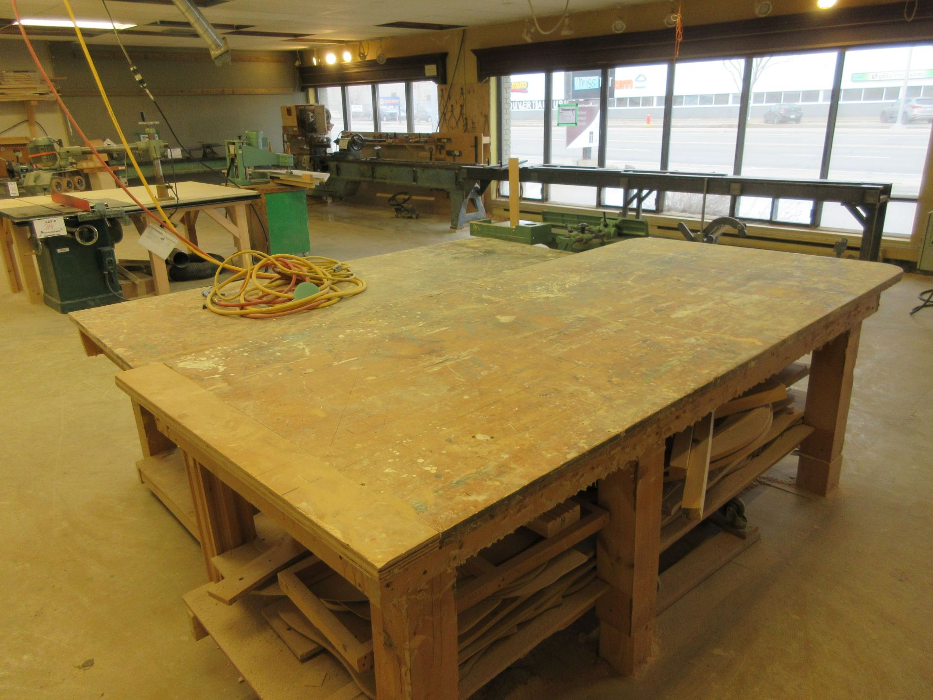 LOT including 2 work tables aprox 4ft x 8ft - Image 6 of 6